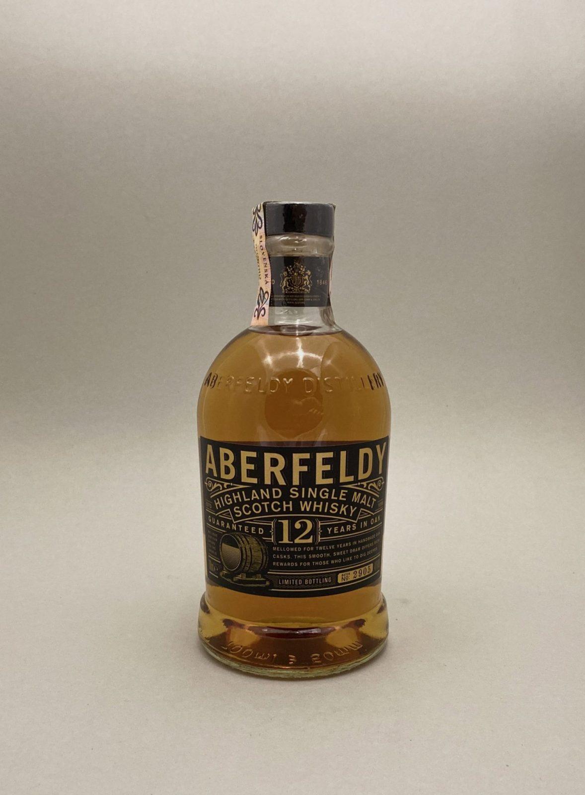 Aberfeldy 12YO 40%, Bottleshop Sunny wines slnecnice mesto, petrzalka, Škótska Whisky, rozvoz alkoholu, eshop
