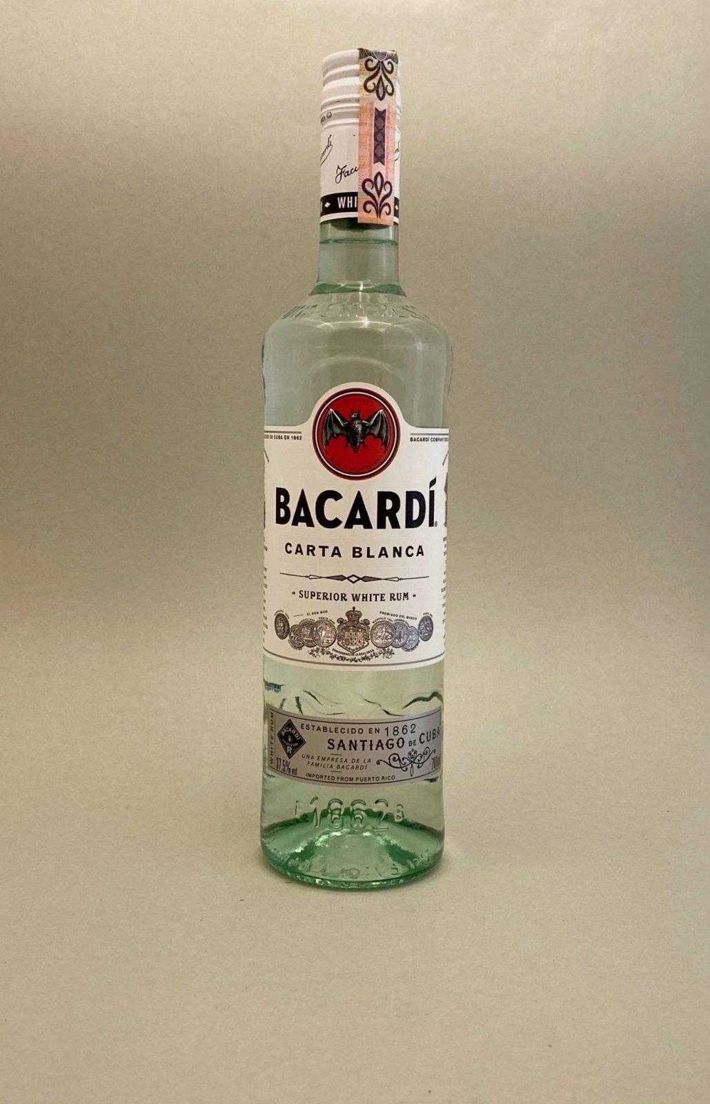 Bacardi Carta Blanca 37,5%, Bottleshop Sunny wines slnecnice mesto, petrzalka, rum, rumy, rozvoz alkoholu, eshop