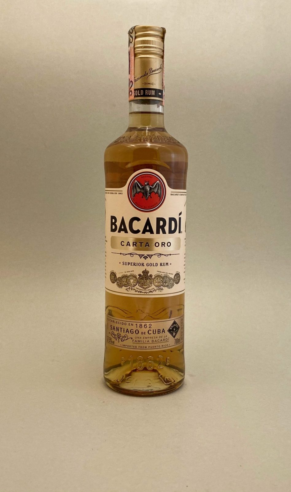Bacardi Carta Oro 37,5%, Bottleshop Sunny wines slnecnice mesto, petrzalka, rum, rumy, rozvoz alkoholu, eshop