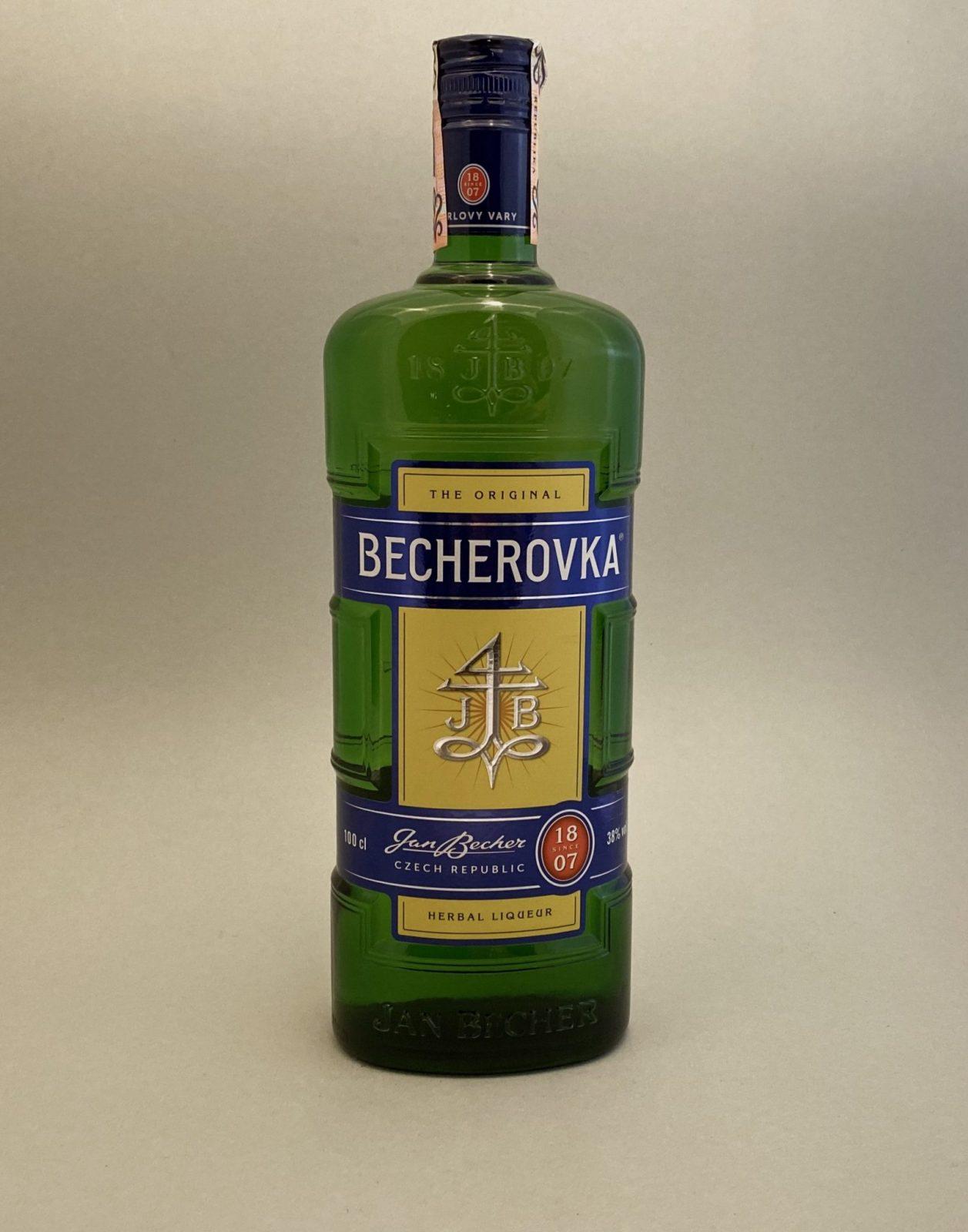 Becherovka 38%, Bottleshop Sunny wines slnecnice mesto, petrzalka, likér, rozvoz alkoholu, eshop