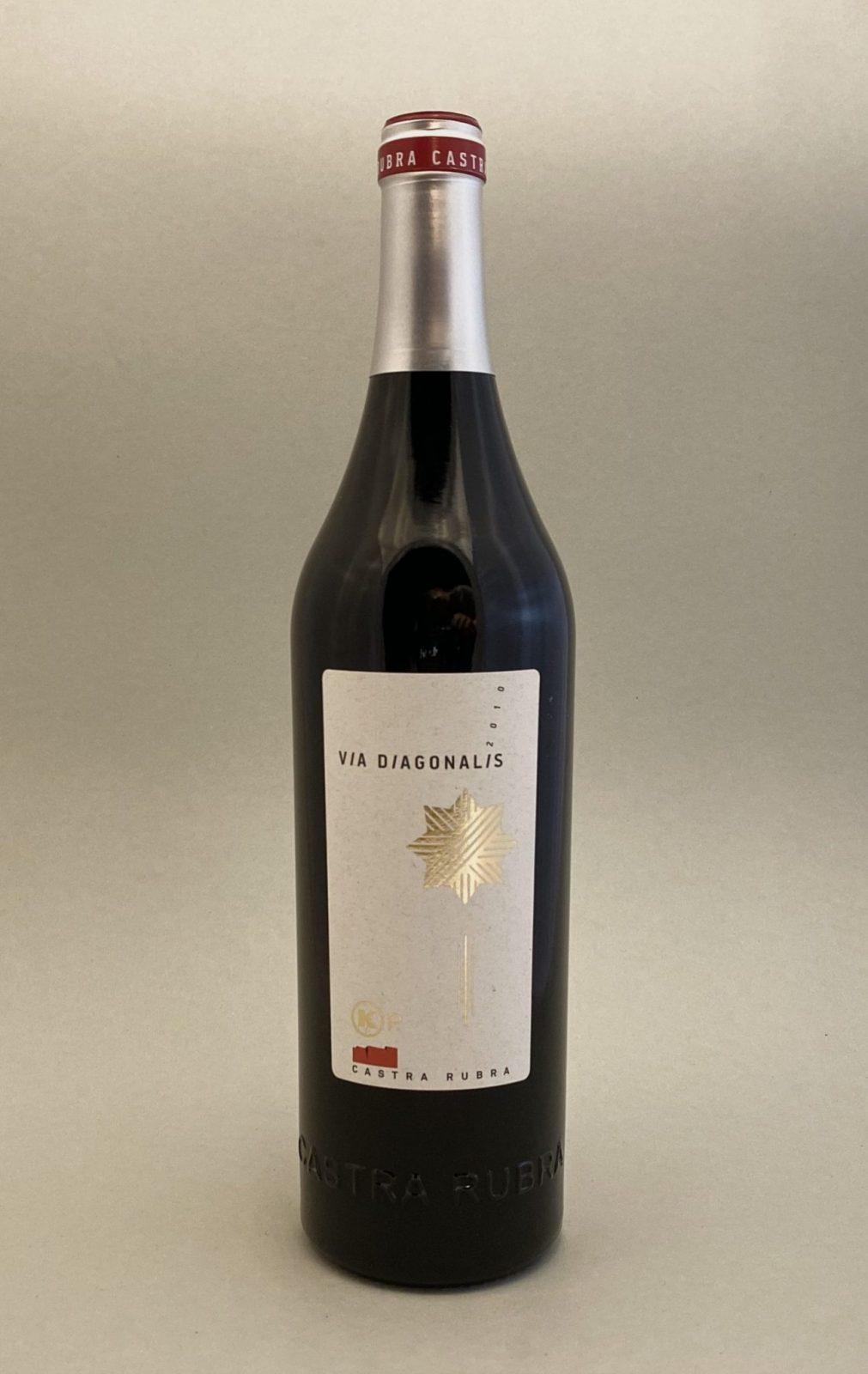 CASTRA RUBRA Via Diagonalis 2010, vinoteka Bratislava slnecnice mesto, petrzalka, vino červené z Bulharska
