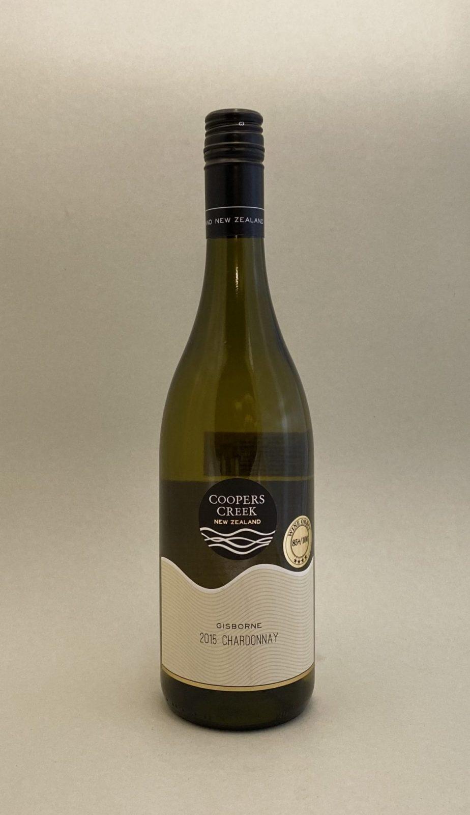 COOPERS CREEK Chardonnay 2015, vinoteka Sunny wines slnecnice mesto, Bratislava petrzalka, vino biele z Nového Zélandu