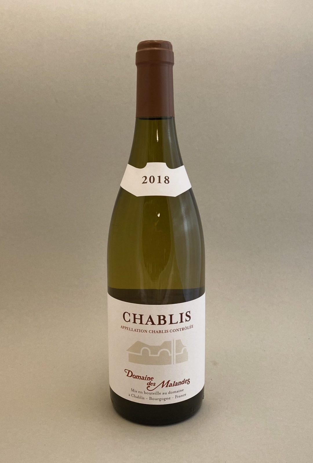 DOMAINE DES MALANDES Chablis 2018, vinoteka Bratislava slnecnice mesto, petrzalka, vino biele z Francúzska