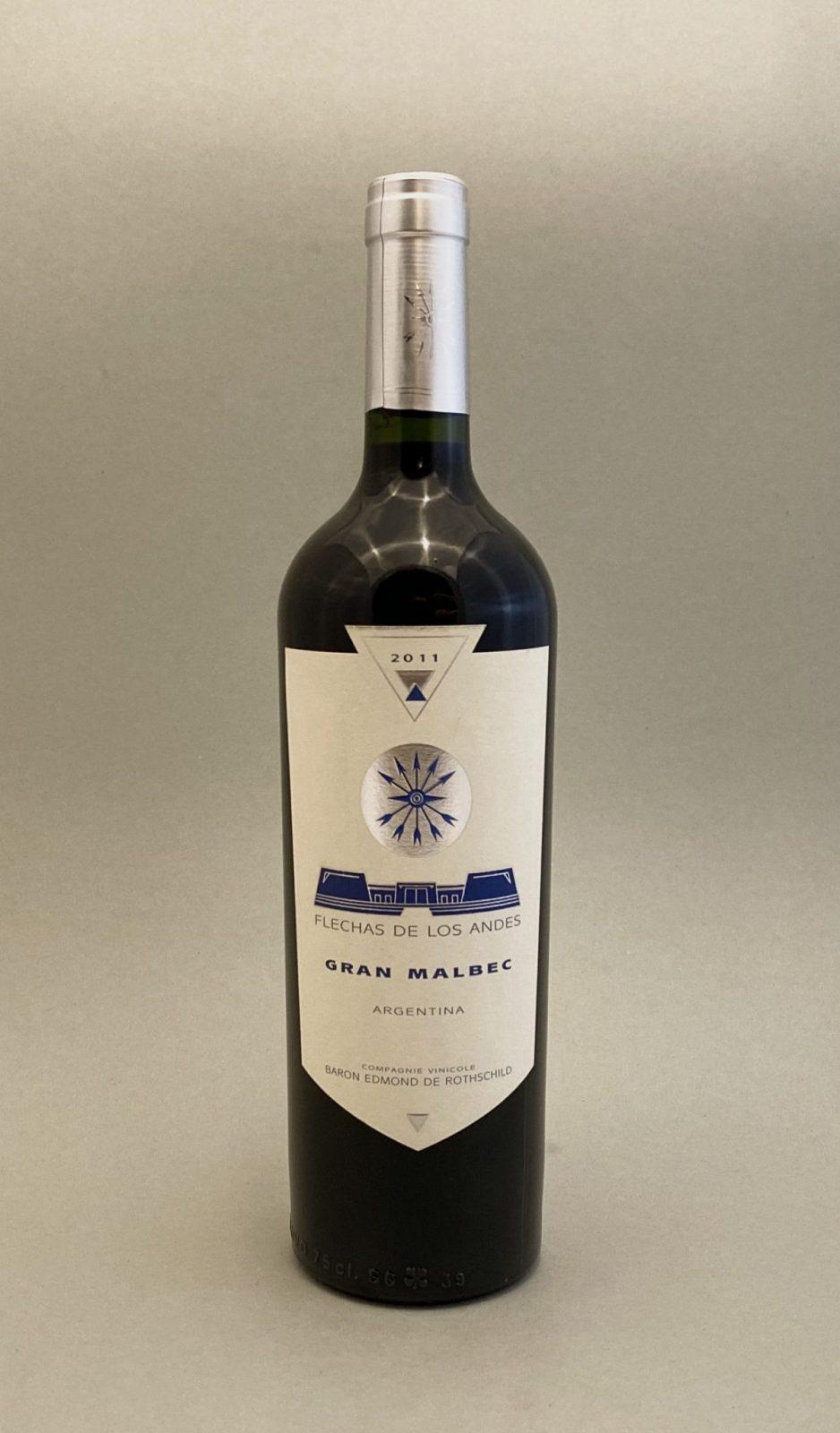 FLECHAS DE LOS ANDES Gran Malbec 2011, vinoteka slnecnice Bratislava mesto, petrzalka, vino cervene z Argentiny