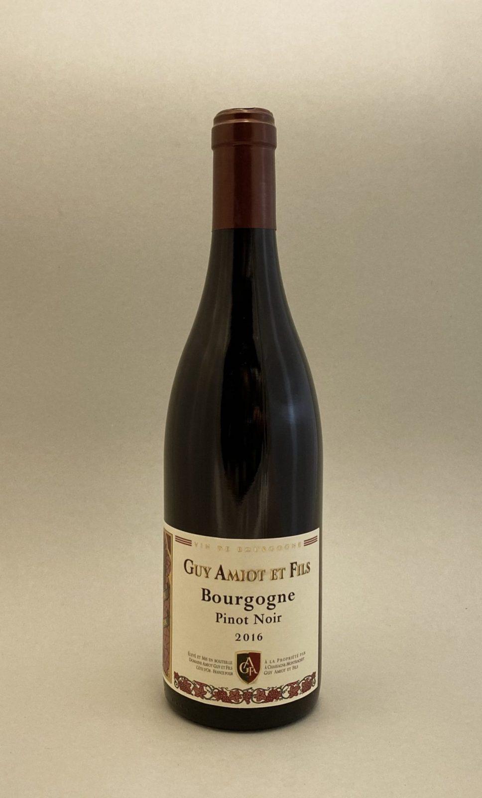 GUY AMIOT Bourgogne Pinot Noir 2016, vinoteka Sunny wines slnecnice mesto Bratislava, petrzalka, vino červené z Francúzska