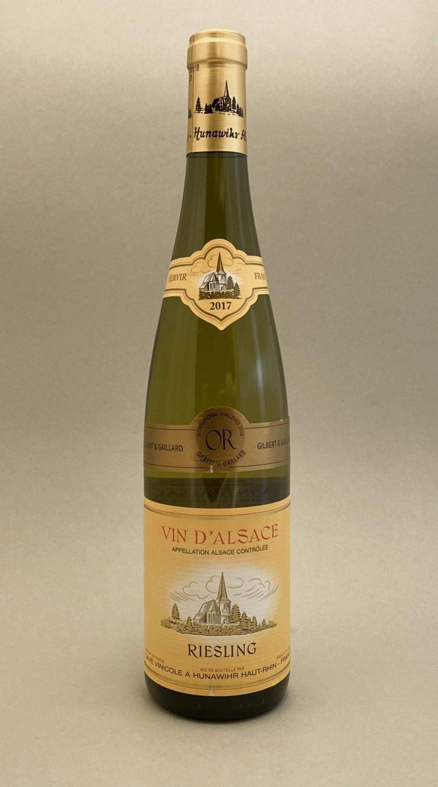 HUNAWIHR Vin D'Alsace Riesling 2017, vinoteka Bratislava slnecnice mesto, petrzalka, vino biele z Francúzska