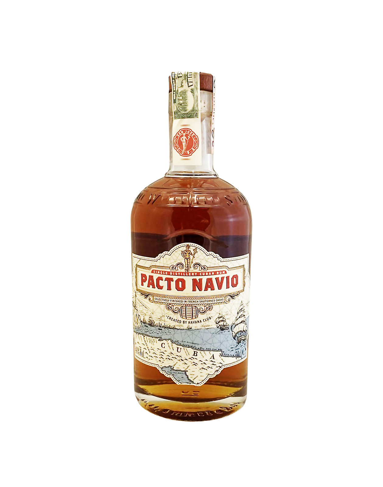 Havana CLub Pacto Navio 40%, Bottleshop Sunny wines slnecnice mesto, petrzalka, rum, rozvoz alkoholu, eshop
