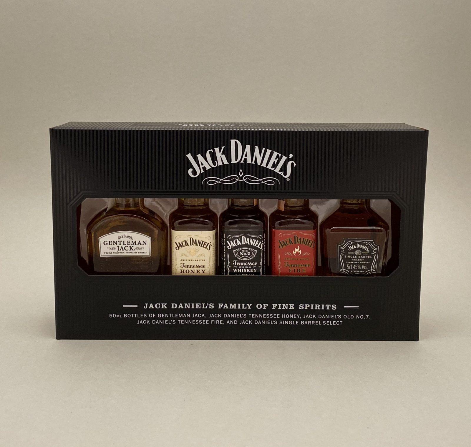 Jack Daniel's Family Mini Set 39%, Bottleshop Sunny wines slnecnice mesto, petrzalka, Škótska Whisky, rozvoz alkoholu, eshop