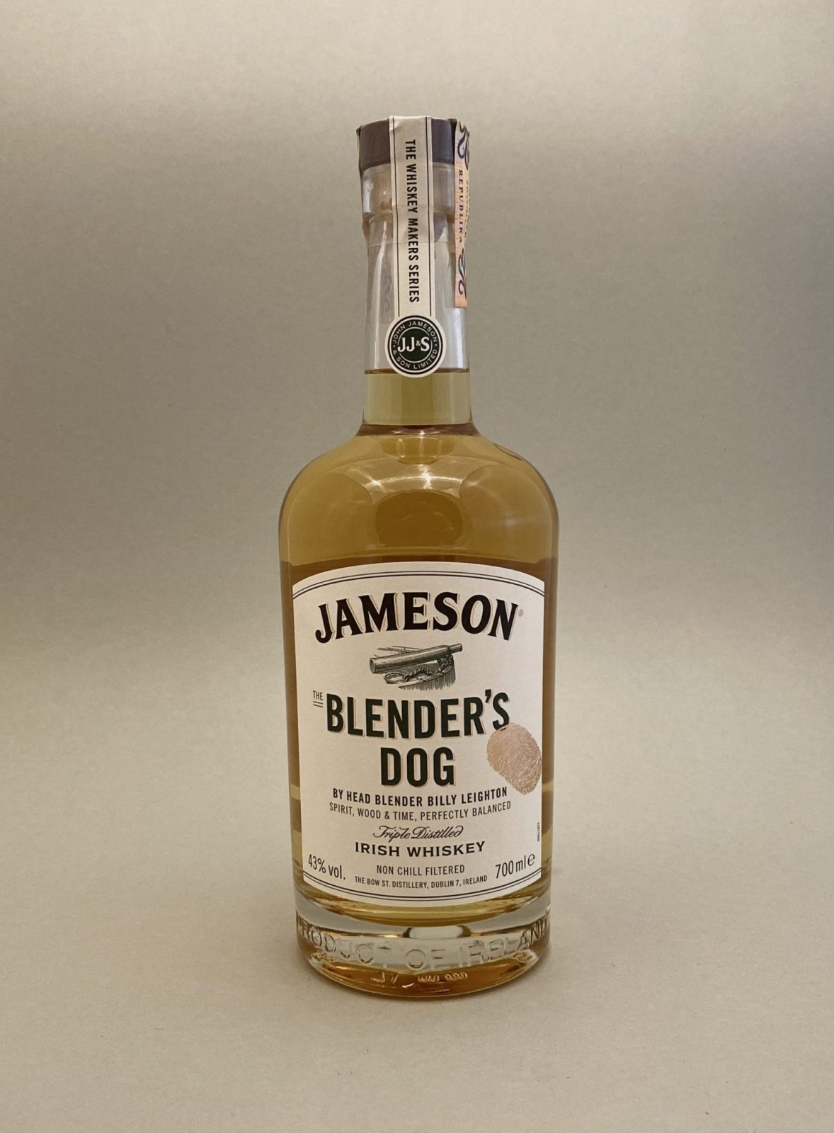 Jameson Makers Blender's Dog 43%, Bottleshop Sunny wines slnecnice mesto, petrzalka, Írska Whiskey, rozvoz alkoholu, eshop