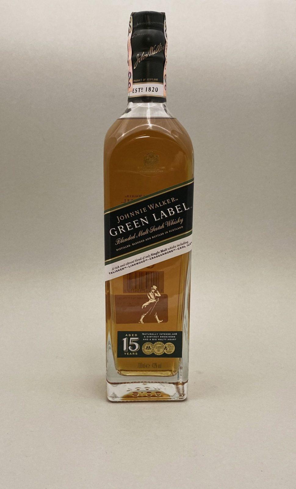 Johnnie Walker Green Label 40%, Bottleshop Sunny wines slnecnice mesto, petrzalka, Škótska Whisky, rozvoz alkoholu, eshop