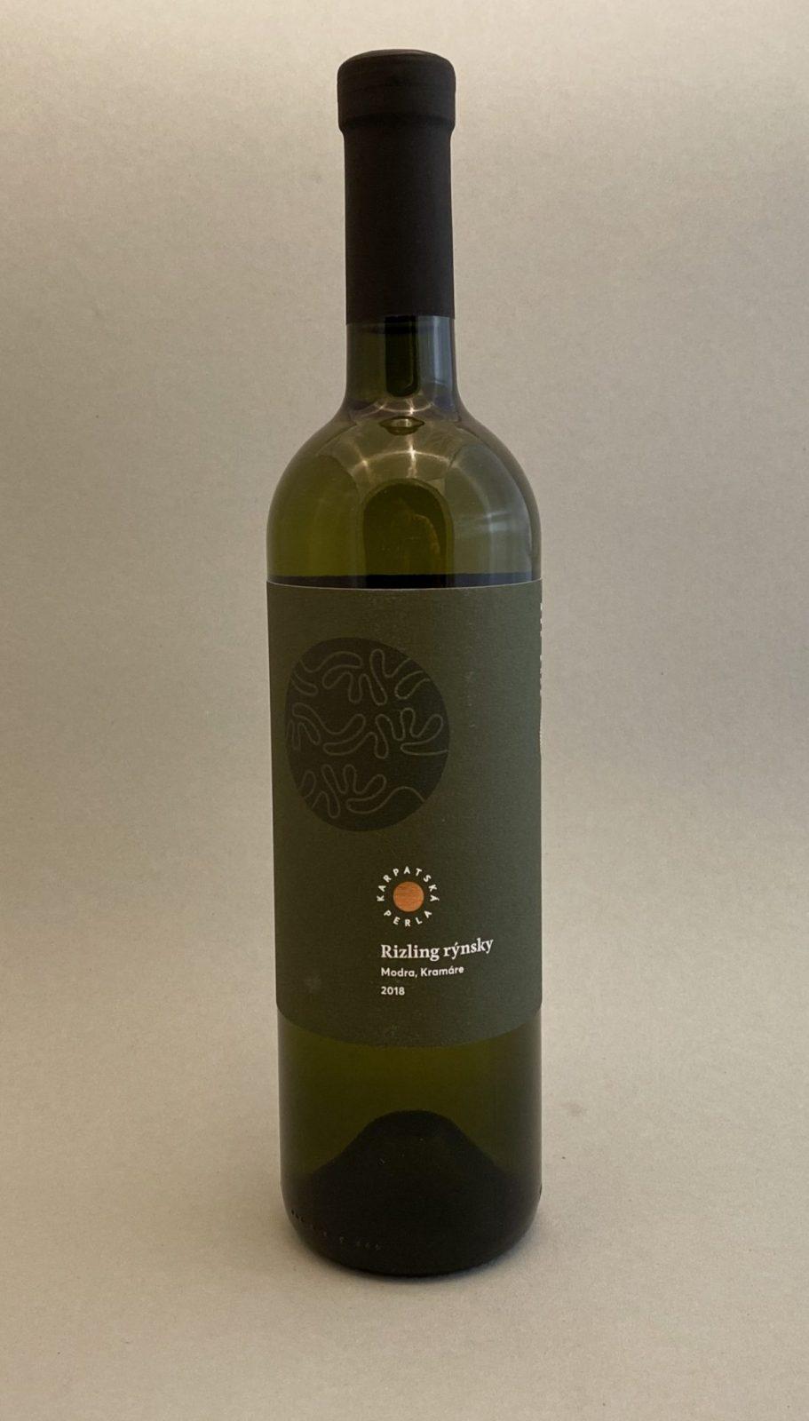 KARPATSKÁ PERLA Rizling Rýnsky 2018, vinotéka v Slnečniciach, slovenské biele víno, Bratislava Petržalka, Sunny Wines