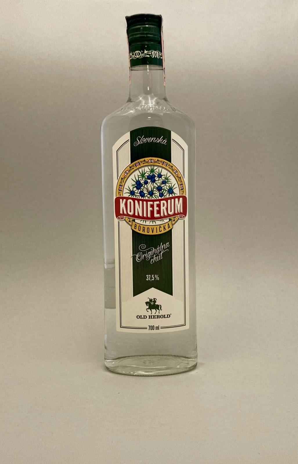 Koniferum Borovička 37,5%, Bottleshop Sunny wines slnecnice mesto, petrzalka, destiláty, rozvoz alkoholu, eshop