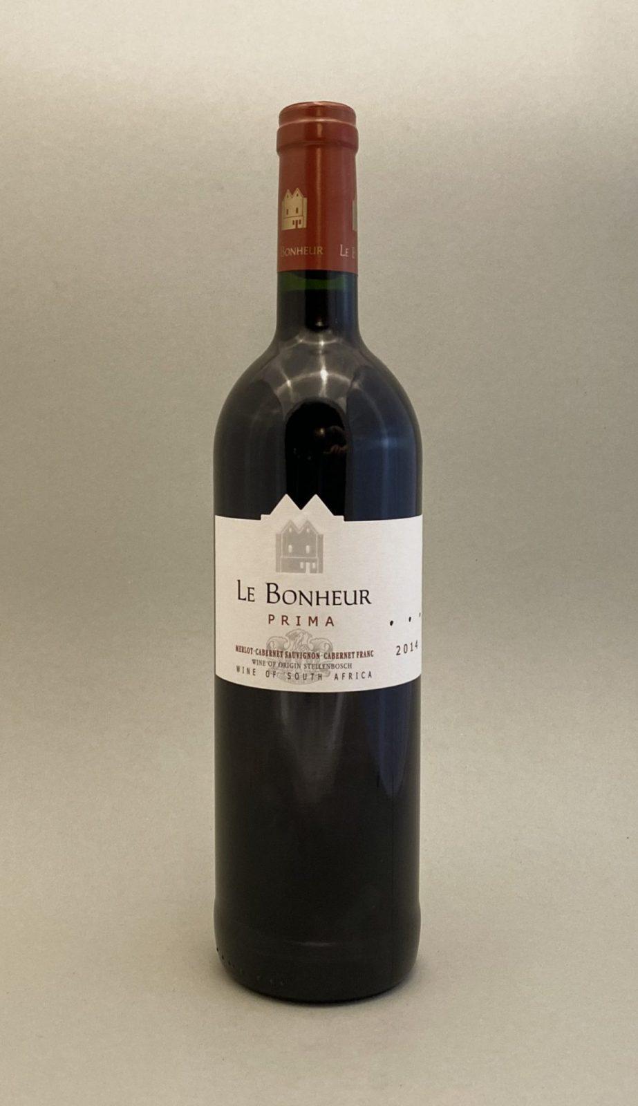 LE BONHEUR Prima 2014, vinoteka Sunny wines slnecnice mesto, Bratislava petrzalka, vino červené z Južnej Afriky