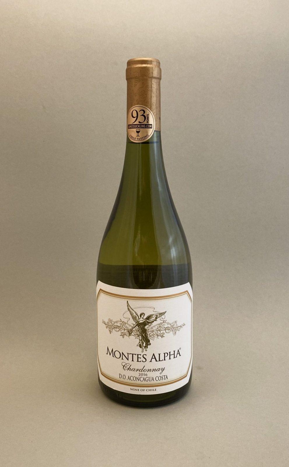 MONTES ALPHA Chardonnay 2016, vinoteka Bratislava Sunny wines slnecnice mesto, petrzalka, vino biele z Chille