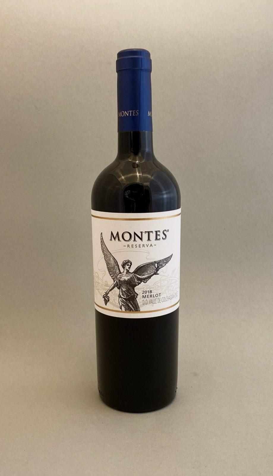 MONTES Merlot Reserva 2018, vinoteka Sunny wines slnecnice mesto, Bratislava petrzalka, vino červené z Chille