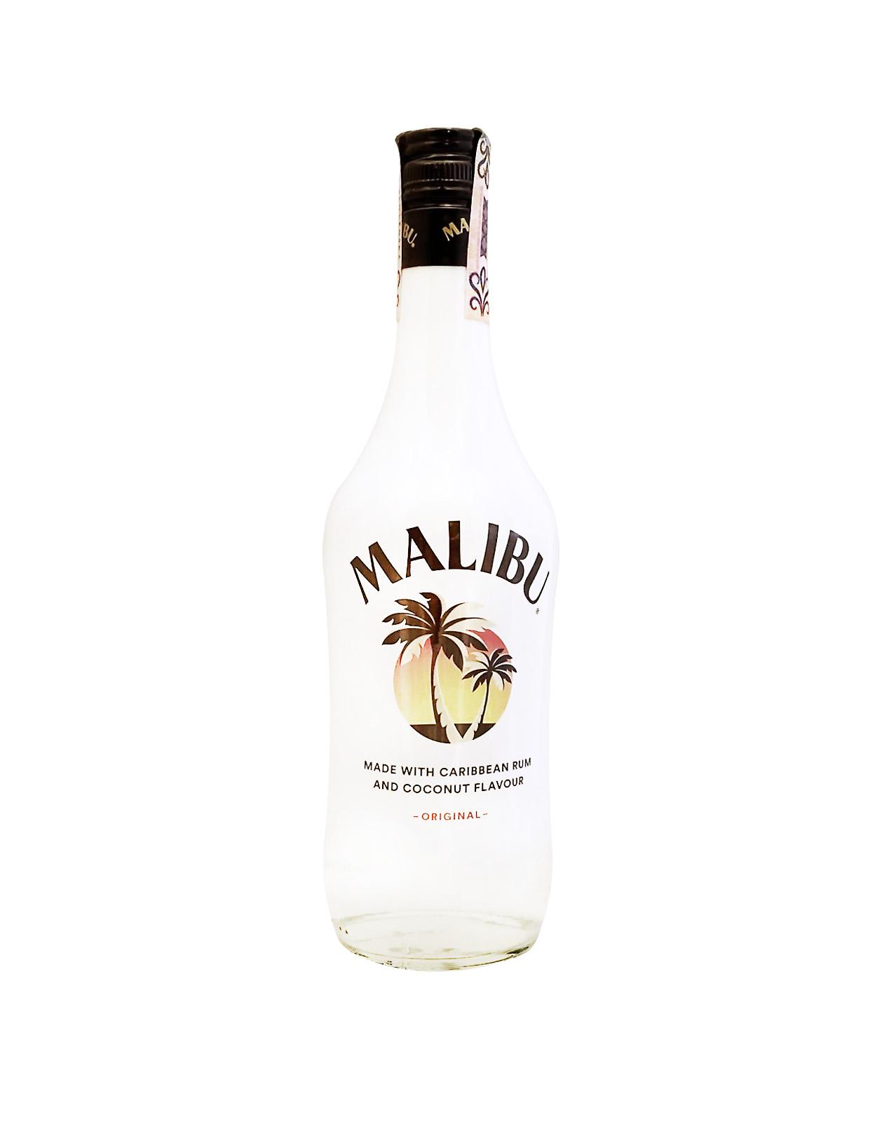 Malibu 21%, Bottleshop Sunny wines slnecnice mesto, petrzalka, likér, rozvoz alkoholu, eshop