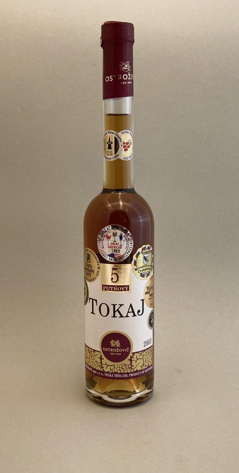 OSTROŽOVIČ Tokaj 5 Putňový 2003, vinotéka v Slnečniciach, slovenské biele víno, Bratislava Petržalka, Sunny Wines