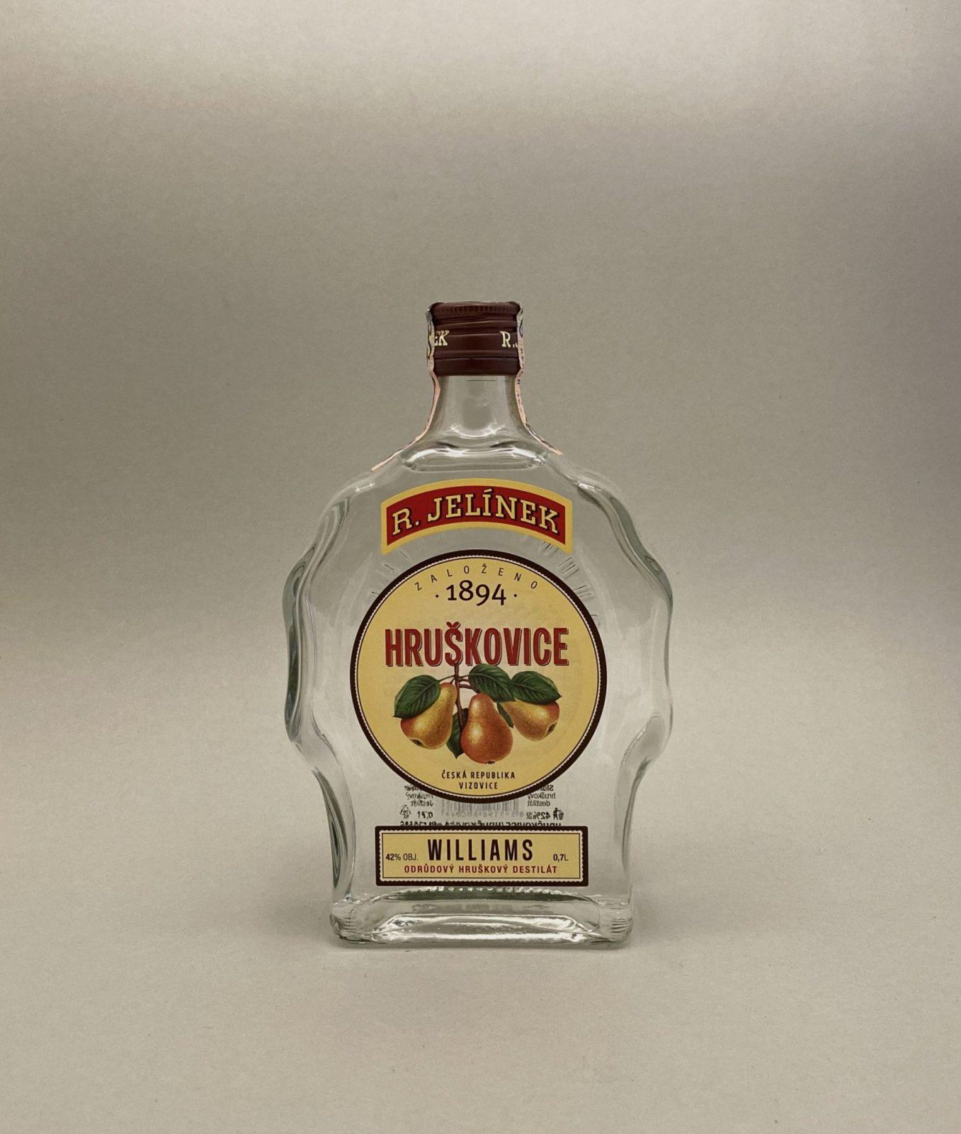 R. Jelínek Hruškovica Williams 42%, Bottleshop Sunny wines slnecnice mesto, petrzalka, destiláty, rozvoz alkoholu, eshop