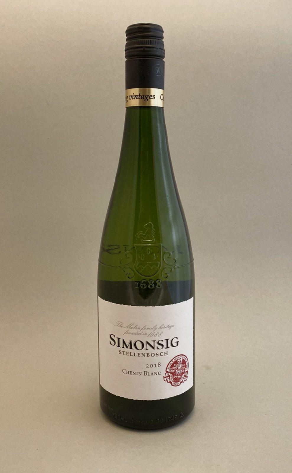 SIMONSIG Chenin Blanc 2018, vinoteka Sunny wines slnecnice mesto, Bratislava petrzalka, vino biele z Južnej Afriky