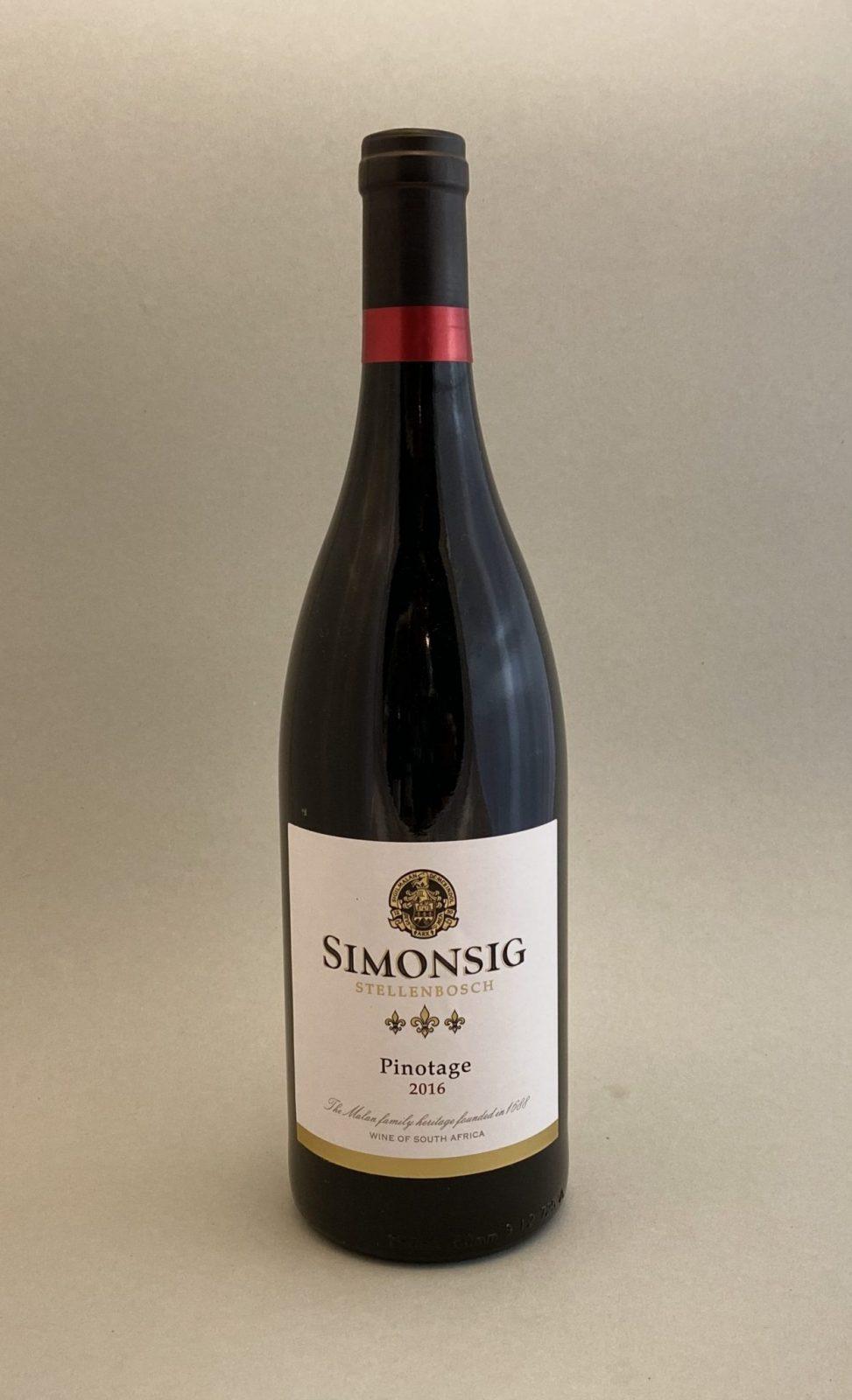 SIMONSIG Pinotage 2016, vinoteka Sunny wines slnecnice mesto, Bratislava petrzalka, vino červené z Južnej Afriky