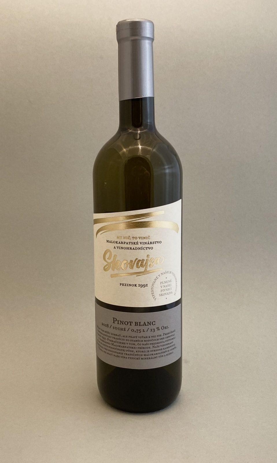 SKOVAJSA Pinot Blanc 2018, vinotéka v Slnečniciach, slovenské biele víno, Bratislava Petržalka, Sunny Wines