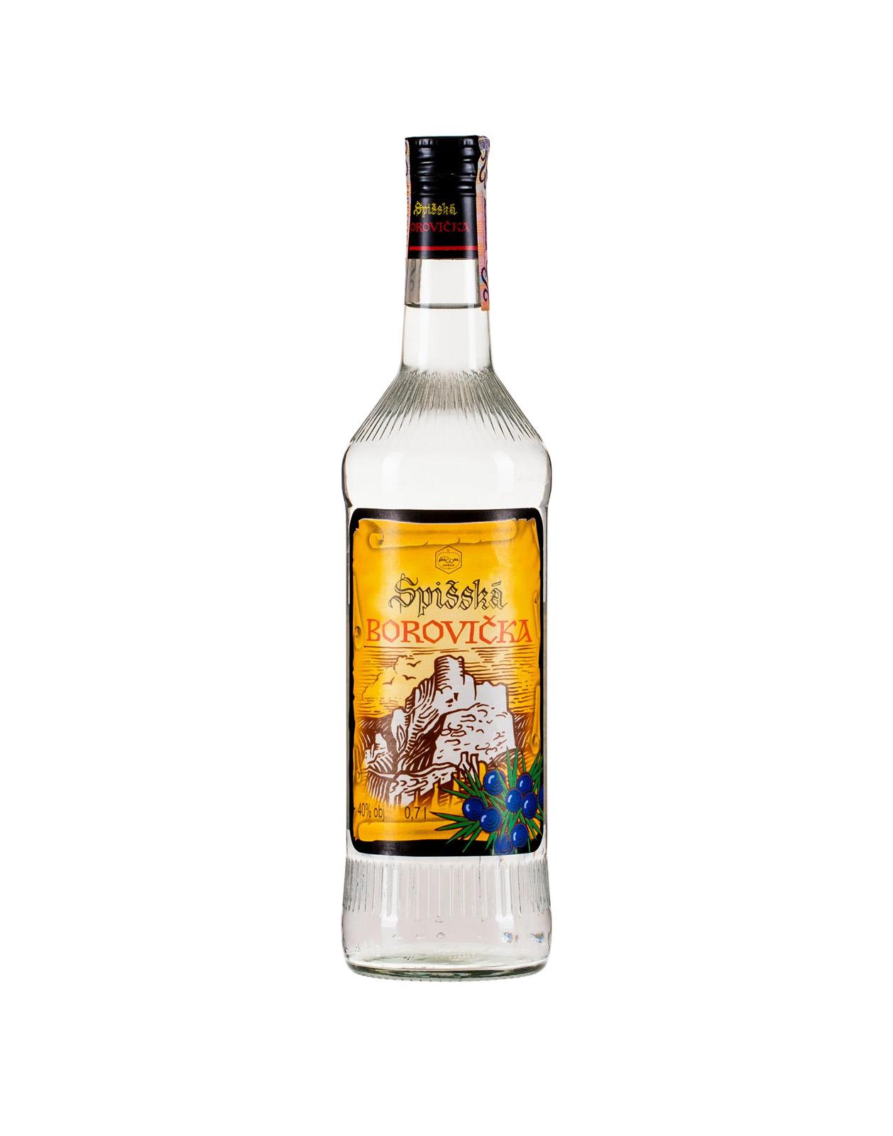 Spišská Borovička 40%, Bottleshop Sunny wines slnecnice mesto, petrzalka, destiláty, rozvoz alkoholu, eshop