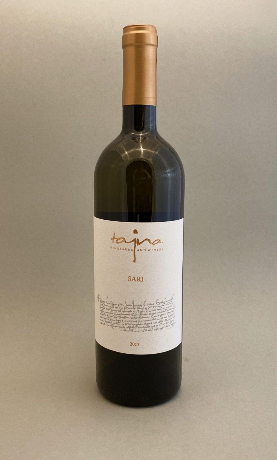 TAJNA Cuvée Sari 2017, vinotéka v Slnečniciach, slovenské biele víno, Bratislava Petržalka, Sunny Wines
