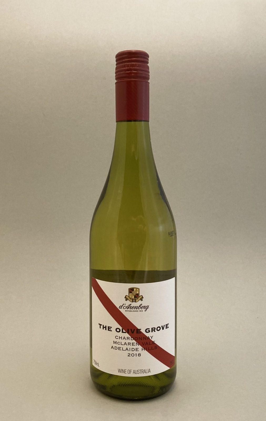 THE OLIVE GROVE Chardonnay 2018, vinoteka Bratislava slnecnice mesto, petrzalka, vino biele z Australie