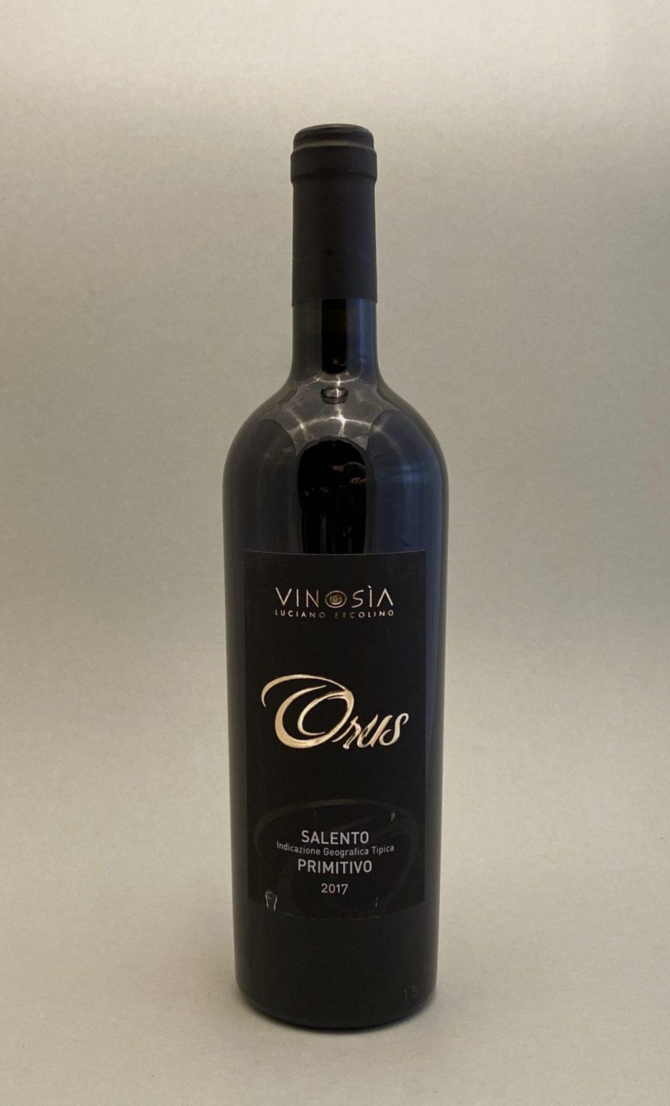 VINOSIA Orus Primitivo 2017, vinoteka Sunny wines slnecnice mesto, Bratislava petrzalka, vino červené z Talianska