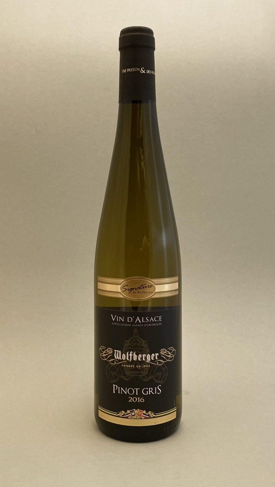 WOLFBERGER Vin D'Alsace Pinot Gris 2016, vinoteka Bratislava slnecnice mesto, petrzalka, vino biele z Francúzska