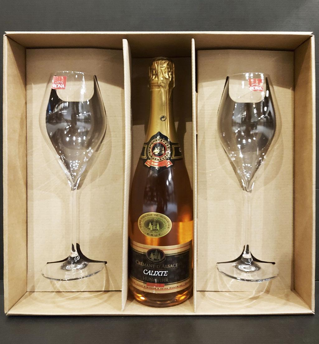 Darčekový set CALIXTE – Crémant d'Alsace Rosé, vinotéka bar Sunnywines Bratislava Petržalka, bublinkové víno, darček pre muža ženu, eshop