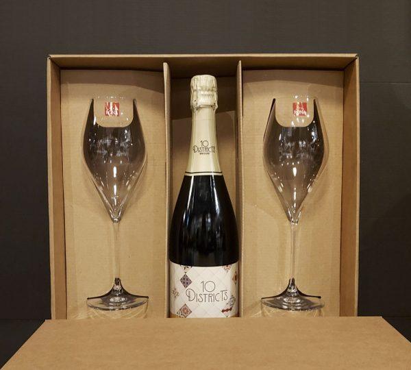 Darčekový Set 10 Districts + 2 Pohare Rona, vinotéka bar Sunnywines Bratislava Petržalka, bublinkové víno, darček pre muža ženu, eshop