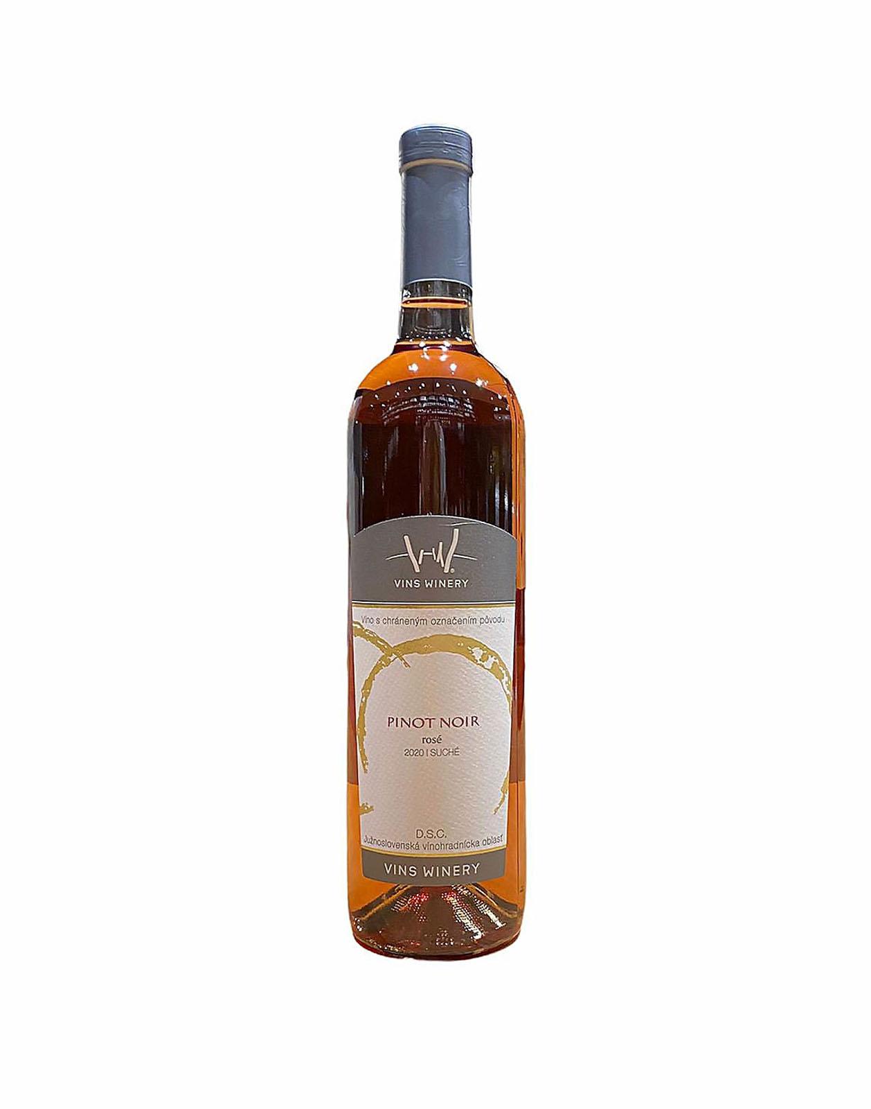 Vins Winery Pinot Noir Rosé, vinotéka v Slnečniciach, Slovenské rožové víno, Bratislava Petržalka, Sunny Wines, rozvoz vín, wine shop