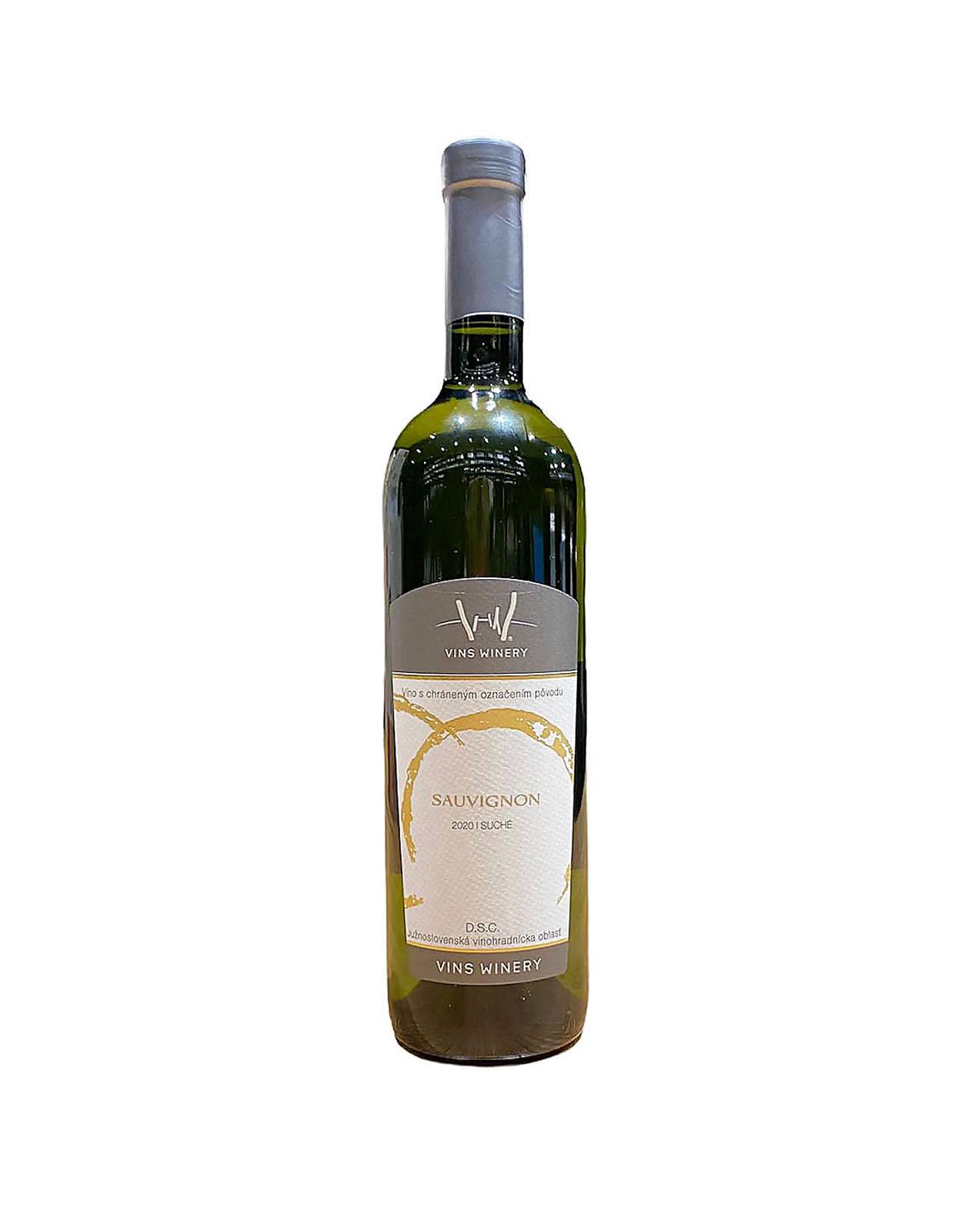 Vins Winery Sauvignon, vinotéka v Slnečniciach, Slovenské biele víno, Bratislava Petržalka, Sunny Wines, rozvoz vín, wine shop