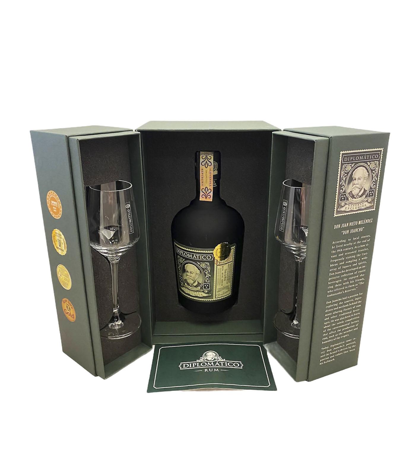 Diplomático Reserva Exclusiva 12 YO Ritual Set, 40 %, 0,7 L GIFT, Bottleshop Sunny wines slnecnice mesto, petrzalka, rum, rozvoz alkoholu, eshop