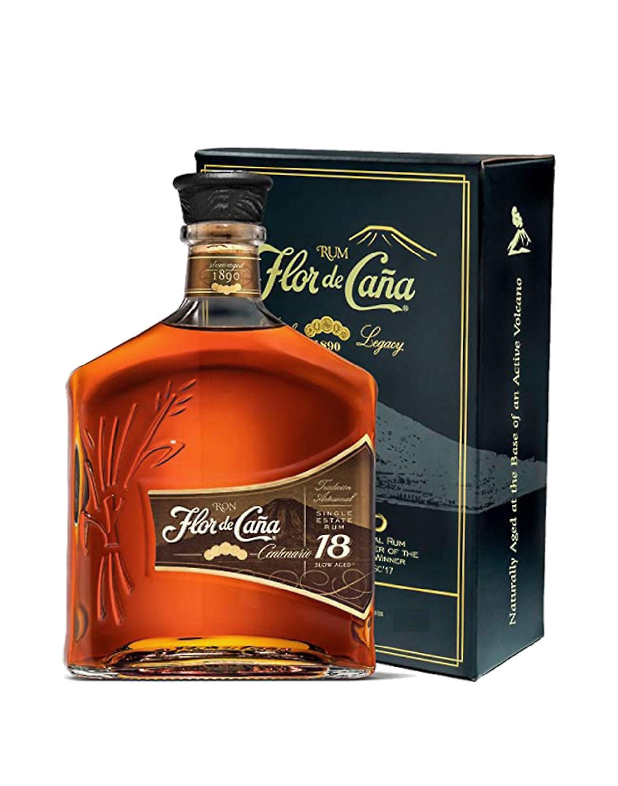 Flor de Cana Centario 18Y v kartóne 1L 40% rum, Bottleshop Sunny wines slnecnice mesto, petrzalka, rum, rozvoz alkoholu, eshop