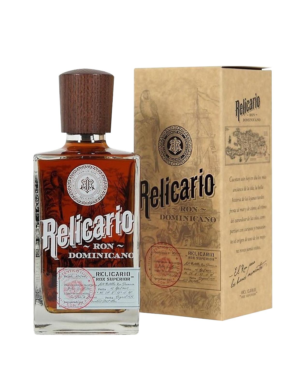 Relicario Ron Dominicano Superior 0,7 L 40% rum, Bottleshop Sunny wines slnecnice mesto, petrzalka, rum, rumy, rozvoz alkoholu, eshop